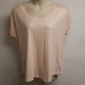 Lane Bryant Light Pink w/ Gold Dot Gradiant Shirt